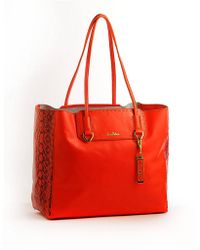 Sam Edelman Giselle Leather Tote Bag red - Lyst