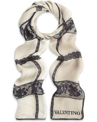 Valentino Evening Lace Scarf beige - Lyst