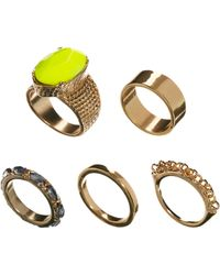 ASOS Collection | Stone Ring Pack | Lyst
