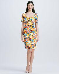 Theia Floralprint Cocktail Dress - Lyst