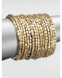 ABS By Allen Schwartz - Beaded Coil Bracelet - Lyst