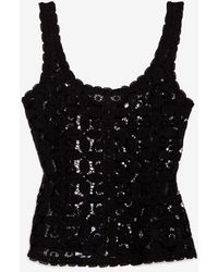 Exclusive For Intermix - Zipper Back Lace Tank - Lyst