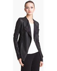 Donna Karan New York Collection Vintage Stretch Leather Jacket - Lyst