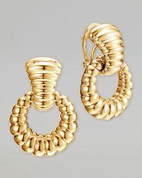 John Hardy Bedeg 18k Gold Doorknocker Earrings - Lyst