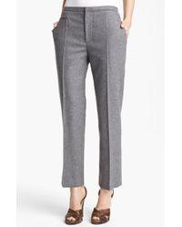 Marc Jacobs Wool Flannel Crop Pants - Lyst