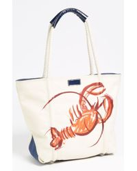 Milly Lobster Print Canvas Tote - Lyst