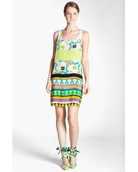 MSGM Memphis Print Silk Tank Dress - Lyst