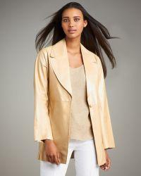 Shamask Leather Swing Coat - Lyst