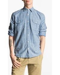 Splendid Mills | Mills Chambray Shirt | Lyst