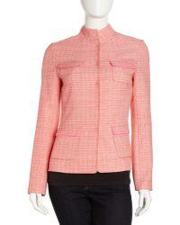 Tahari Tweed Jacket - Lyst