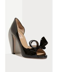 Valentino Couture Bow Dorsay Pump - Lyst