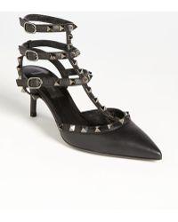 Valentino Women'S 'Rockstud' T-Strap Pump - Lyst