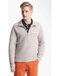 Billy Reid Half Zip Quilted Pullover - Lyst