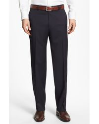 Boss by Hugo Boss Jeffrey Us Flat Front Wool Trousers - Lyst