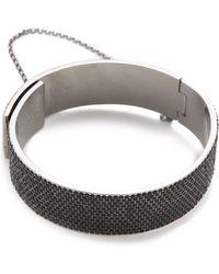 Eddie Borgo - Pave Safety Chain Cuff - Lyst
