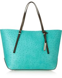 Michael Kors Ostrich Effect Leather Tote - Lyst