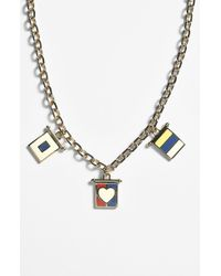 Tory Burch Ahoy Cluster Pendant Necklace - Lyst