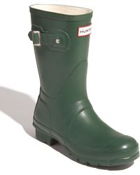Hunter 'Original Short' Gloss Rain Boot - Lyst