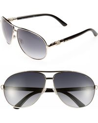 Jimmy Choo Walde 63mm Metal Aviator Sunglasses - Lyst