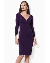 Lauren by Ralph Lauren Matte Jersey Dress - Lyst