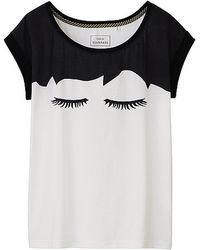 Lulu Guinness - Lulu Guinness Graphic Short Sleeve T-shirt - Lyst