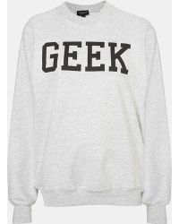 Topshop Geek Sweatshirt - Lyst