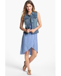 Two By Vince Camuto Vintage Wash Denim Vest - Lyst