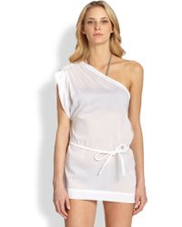 Chloé Oneshoulder Cotton Coverup - Lyst