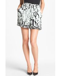 Diane von Furstenberg Atty Stretch Silk Shorts - Lyst