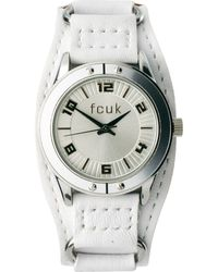 French Connection - White Cuff Strap Watch - Lyst