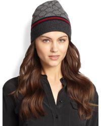 Gucci Logo Knit Hat - Lyst