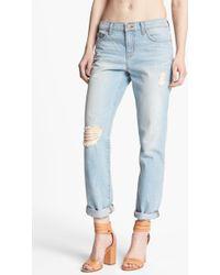 J Brand Aidan Slouchy Boyfriend Jeans Meadow - Lyst