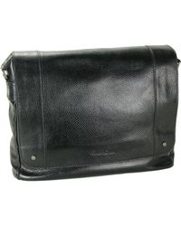 Kenneth Cole Heritage Leather Messenger Bag - Lyst