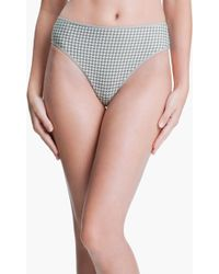 Marlies Dekkers Gray Gloria Thong - Lyst
