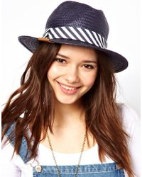 Pepe Jeans - Panama Hat with Zig Zag Ribbon - Lyst