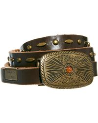 Pepe Jeans - Big Buckle Leather Belt - Lyst
