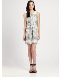 Rebecca Taylor Silk Animal Print Dress - Lyst