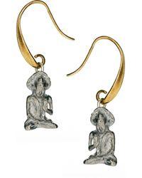 Sam Ubhi - Buddha Charm Earrings - Lyst