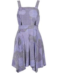 Topshop Gingham Witch Hem Flippy Dress - Lyst