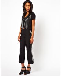 Unconditional Cropped Pants With Ribbon Detail - Lyst