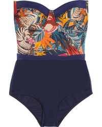 Zimmermann Wanderlust Printed Swimsuit - Lyst