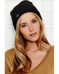 BDG - Plain Beanie Hat In Black - Lyst