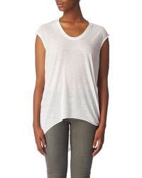 Helmut Lang Draped-Back Jersey Top - For Women - Lyst