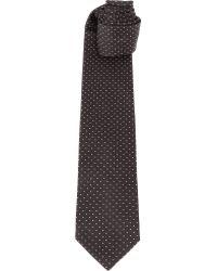 Lanvin Dotted Silk Tie Black - Lyst