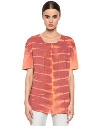 Raquel Allegra Deconstructed Mens Tee with Shred in X-Ray - Lyst