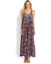 Zimmermann Printed Silk Maxi Dress - Lyst