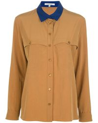 Carven Contrast Collar Shirt - Lyst
