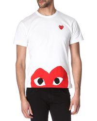 Comme Des Garçons Half-Heart Logo T-Shirt - For Men - Lyst