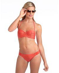 Ella Moss Coral Underwire Bandeau Swim Top - Lyst