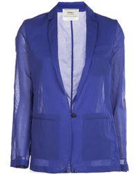 Giada Forte Sheer Long Sleeve Jacket - Lyst